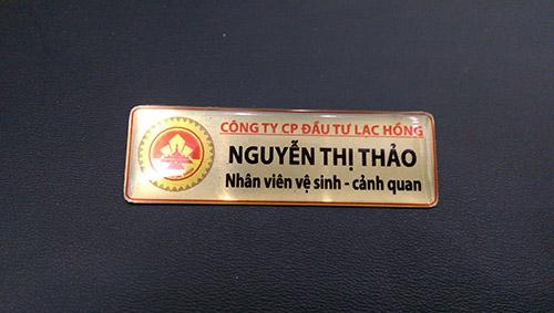 thẻ tên in trên kim loại đẹp rẻ nhất hà nội